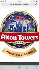 2 tickets for Alton towers on Sunday 30 september