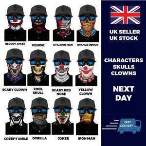 Characters Balaclava Neck Tube Scarf Snood Face Mask Warmer Bandana Multiuse