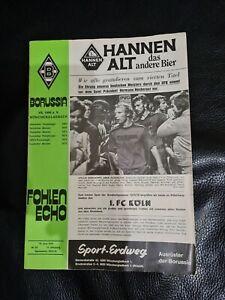 Fohlen Echo 1976 Borussia Mönchengladbach - 1.FC Köln Fohlenecho Stadionheft
