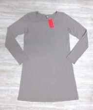 NEW American Apparel Women's Classic Long Sleeve Shirt Dress Beige Size MEDIUM