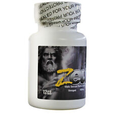 Zeus Male Mens Sexual Supplement Enhancer Bottle 12 Count Pills