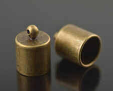 10Pcs Bronze End Caps Bead Stopper fit 12mm Cord Findings for Bracelet Necklace