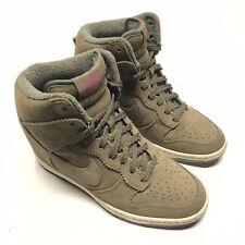 Nike Dunk Sky High Medium Olives Wedge Heel Shoes Size 7