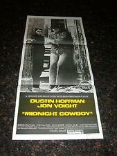 "MIDNIGHT COWBOY Original  Movie Poster (Australian) , 13.25"" x 30"", C9 Near Mint"