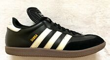 ADIDAS MEN'S SAMBA BLACK WHITE LEATHER SOCCER SHOES SIZE 8.5