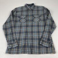 Kuhl Mens L Shirt Button Plaid L/S Flannel Large Hiking Outdoor EUC