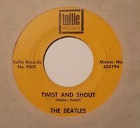 THE BEATLES Twist And Shout / There's a Place 1964 ORIGINAL TOLLIE 45