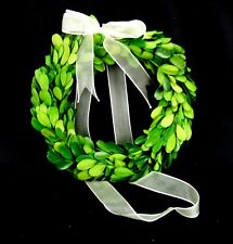 "Preserved Boxwood Wreath 6"" with Bow Napa Home Garden"