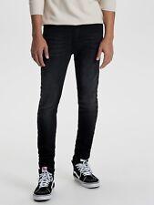 """Only & Sons Herren Warp Skinny Fit Jeans W32"""" L32"""" Bnwt Rrp £ 38.95 ausgewaschenes Schwarz"""