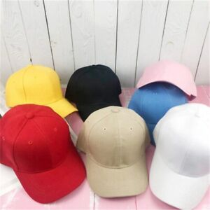 Unisex Caps Casual Plain Baseball Cap Adjustable Snapback Hats For Women Men Hat