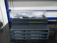 Cisco CCNA CCNP LAB STARTER KIT 3 X 2811 + 2 X WS-C2960-24-S All IOS 15 + Cables