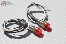 Red Dash LED Indicator Lights Hot Rat Rod Custom Truck Boat Interior Instrument
