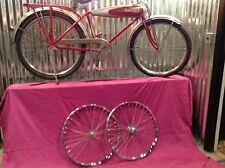 Wow Rechromed Restored Schwinn Aerocycle Wheels Bike Bicycle Motorbike Autocycle