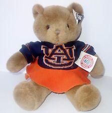 "Plush 16"" Auburn Tigers Cheerleader Teddy Bear University Collegiate Football"