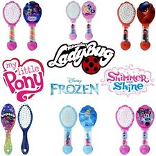 Hair Brush w/d Bobbles Ladybug,Shimmer & Shine ,Minnie Mouse Kids Girls Gift 3+Y