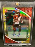 2020 Panini Absolute Tee Higgins Bengals RC Rookie Card Gold Stars Auto #1/10
