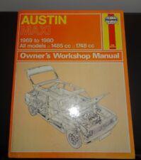 HAYNES WORKSHOP MANUAL, AUSTIN MAXI 1969-80, ALL MODELS, 1500 & 1750cc