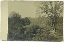 RPPC Path Woods River House Unknown Area Vintage Real Photo Postcard