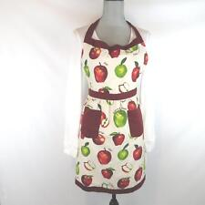 Martha Stewart Collection Apron Apple Print Cotton with Pockets