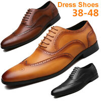 Men Dress Formal Oxfords Leather Shoes Pointed Toe Wedding Casual Business Shoes