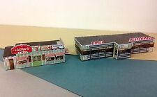 Z Scale Buildings (2) - Diner Restaurant  - Card Stock Kit