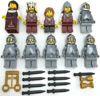 LEGO 10 NEW MINIFIGS CASTLE DRAGON KNIGHT KINGDOMS KING QUEEN MEN WEAPONS MORE