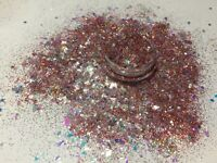 Exclusive Bizzy Nails Cosmetic Grade Glitter Nail Art Dusk Rose Flak Acrylic Gel