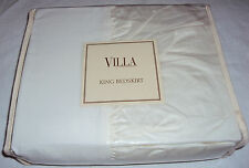 Noble Excellence Villa AMALFI $90 NEW King Bed skirt, IVORY White, NIP Bedskirt
