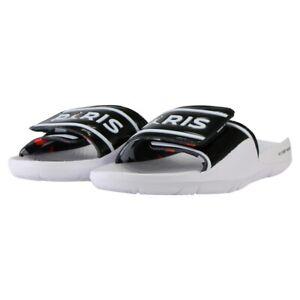 Mens Jordan Hydro 7 V2 PSG Sandals CJ7244 001 White/Black Size UK 8_9 EU 42.5_44