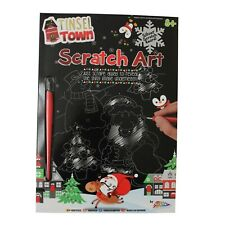 Christmas Scratch Art Engraving Kit with Silver Foil Board