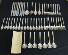 WM A. Rogers AA Heavy Oneida LTD Silver Plate Flatware 52pcs Flower Pattern