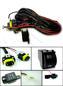 For Subaru Fog Light Wiring Harness Kit w/OE Style Switch and Relay