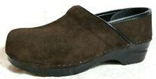 Dansko Professional Women's Nursing Clogs Size 10M/EU 40 shoe Brown suede solid