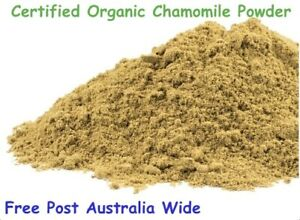 Chamomile Flower Powder Certified Organic 100g Free Post