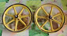 Ancienne Paire de Roue Jante de Vélo de Cross  spécial sport 32,5 cm Diam x 4 cm