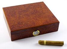 ANGELO Humidor Wurzelholz-Optik für ca 20 Zigarren mit Acrylpolymere-Befeuchter