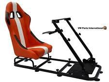 Car Gaming Racing Simulator Frame Chair Bucket Seat PC PS3 PS4 XBox Orange/White