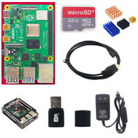 Raspberry Pi 4 Model b Starter Kit Heatsink Fan Case Power suppy Micro SD HDMI