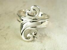 ELEGANT STERLING SILVER FILIGREE SPOON STYLE RING size 8  style# r0540