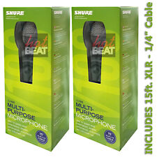Pair Shure SV100-W Cardioid Dynamic Multi-Purpose Microphone 042406186841 SV100W