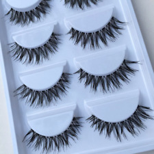 5Pairs Women 3D Black Natural Bushy Cross False Mink Eye Lashes Eyelashes Best