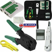 Tool Kit | Networking Ethernet RJ45 Connectors Crimper Punch Down Cable Tester