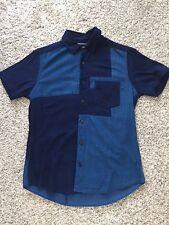 Il GIAPPONE Blu Blu Indaco Patch Manica Corta Camicia-Taglia 2 piccoli USATO ARIGATO Puro
