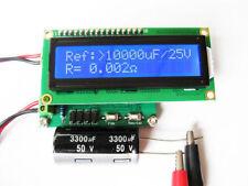 New Capacitor ESR Tester IN Circuit Capacitance Meter Milliohmmeter