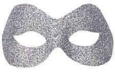 ARGENTO Glitter Occhi Maschera Maschera Occhi Masquerade Ball Party CAT FELINE FANCY DRESS