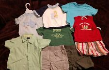 9 Piece Lot Of Baby Boy Clothes 9 month Carter's le top