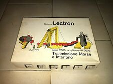 Sistema LECTRON Inelco TRASMISSIONE MORSE e INTERFONO NUOVO NEW Ampliamento 2002