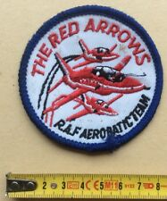 Militaire Écusson THE RED ARROWS R.A.F. ROYAL AIR FORCE TEAM Patch Tissu Insigne