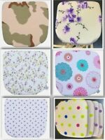 PP 4 X Fabric Seat Pads Garden Kitchen Dining Chair Cushions Tie On design