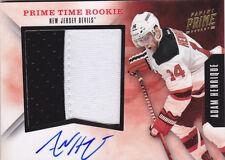 11-12 Panini Adam Henrique /15 Auto Jersey PRIME Time Rookie Devils 2011